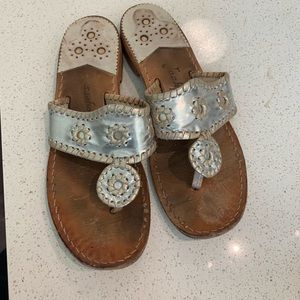 Platinum and Silver Jack Rogers 8M